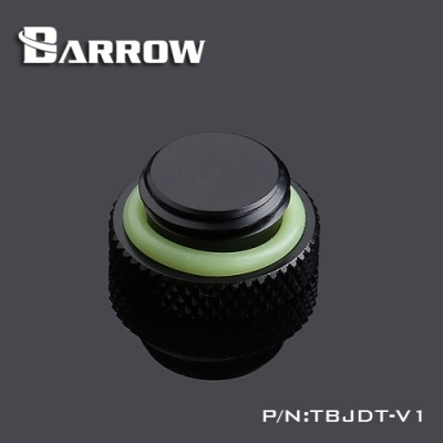 Mirror Finish Stop Plug Fitting black
