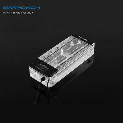 Barrowch boxfish series acrylic square digital reservoir 200 mm Classic Black