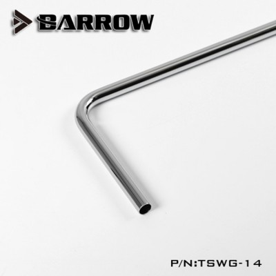 Barrow Tube Copper Chrome  90°  double bend 14 mm