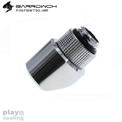 Barrowch 45°Rotary Adapter with smooth surface Siver