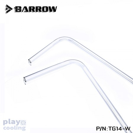 (ท่อใสดัด 90°) Barrow PETG Tube 14*10 Transparent 90° pre bending tube 500mm