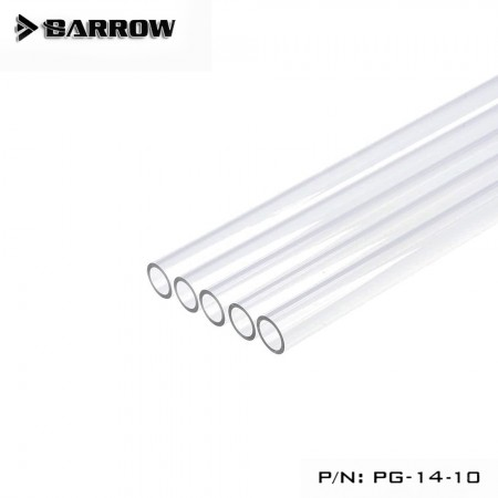 (Set 5Pcs) Barrow PETG Tube 14*10 Transparent 1000mm Set X 5Pcs (ชุดSet ท่อ PETG 14mm ใส ยาว 5 เมตร)