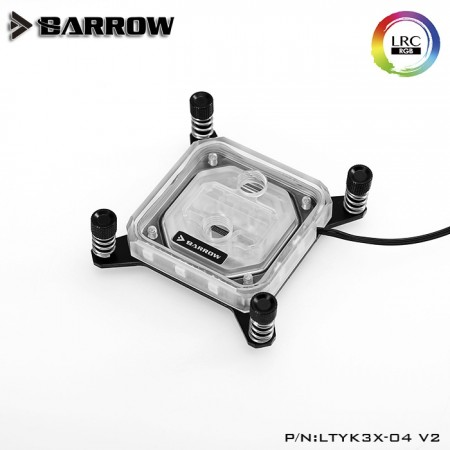 Barrow INTEL 1151/1155/1200  platform Acrylic Aurora CPU water block (รับประกัน 1 ปี)