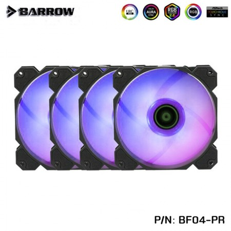 (Set 4) Barrow radiator fan Aurora+controller 16 ways (รับประกัน 1 ปี )