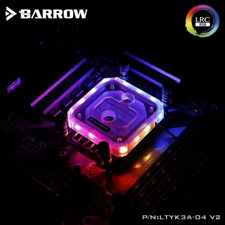 Barrow AMD AM4 platform Acrylic Aurora CPU water block