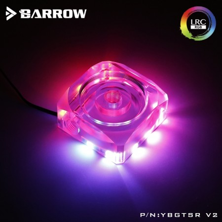 Barrow Acrylic DDC pump cover for combo reservoir and pump Aurora RGB