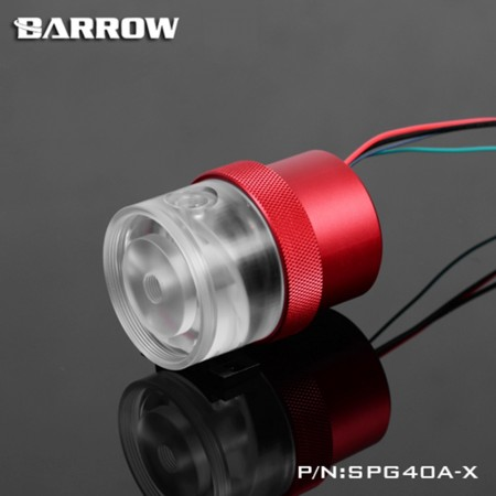 Barrow Pump SPG40A -X (D5 Combo Set) 220mm Transparent-Red (รับประกัน 1 ปี)
