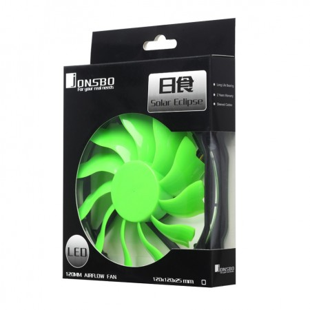 jonsbo Solar Eclipse LED Fan (Green)