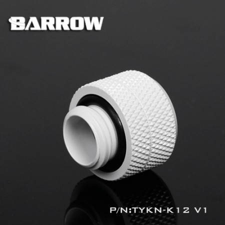 Compression Fitting - 12mm OD Rigid Tubing white