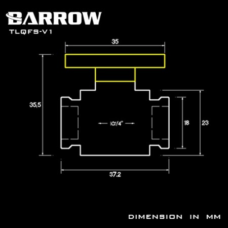 "Barrow G1/4"" Mini Valve gold"