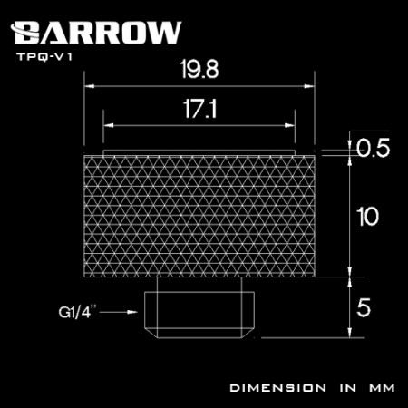 Barrow Multicolor New CD pattern Manual Exhaust Valve silver