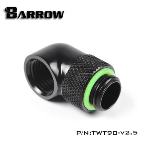 Barrow 90°Rotary Adapter (Male to Female) black 4 PCS