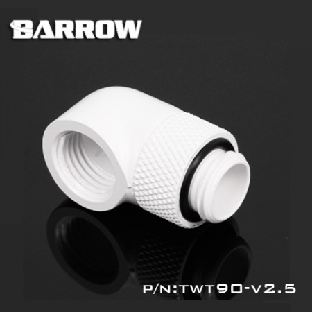 90°Rotary Adapter (Male to Female) white