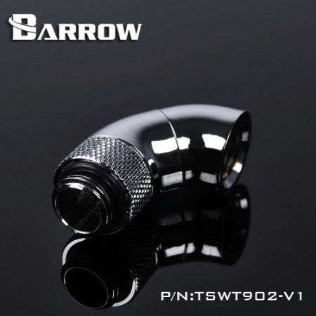 Barrow 90°Snake 2-way Rotary  Adapter silver