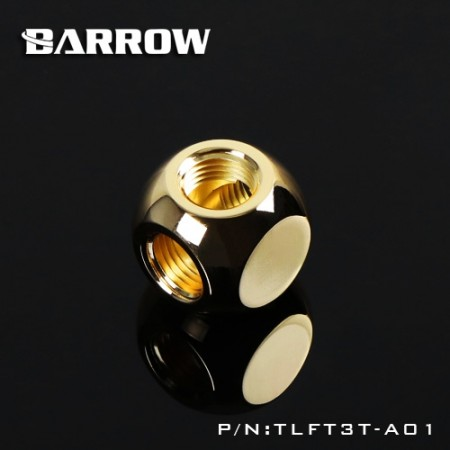 Barrow Metalic Cube Tee - 3Way  gold