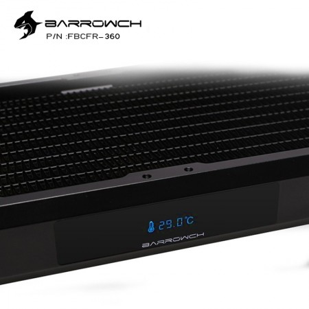 BARROWCH Chameleon Fish series removable 240 radiator with display screen PMMA edition black (มีจอ LED วัดอุหภูมิ รับประกัน 1 ปี)