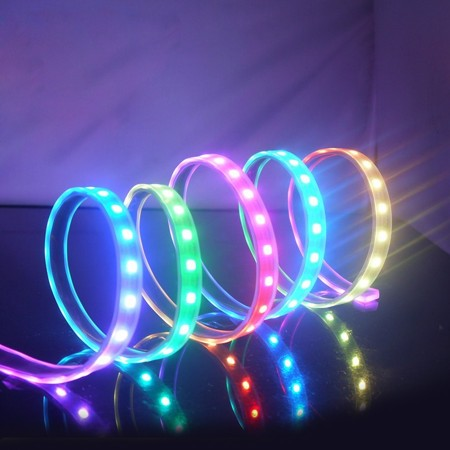 (2M) Light Strip ARGB 5V Waterproof IP67 WS2812B in SiliconTube 2m (ไฟเส้น ARGB กันน้ำ IP67 ยาว 2เมตร)