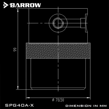 Barrow pump SPG40A -X PWM 18W (D5) transparent-silver