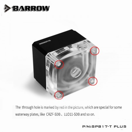 Barrow pump SPB17-T PLUS (DDC) transparent-silver (สำหรับแทงค์แบบ waterway plate)