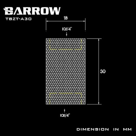 Barrow Female to Female Extender - 30mm white