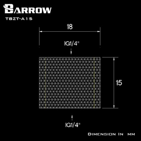 Barrow Female to Female Extender - 15mm silver