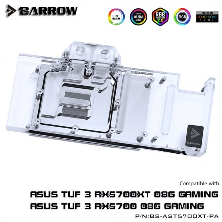 ASUS TUF 5700XT Full coverage Barrow GPU water block