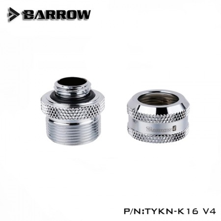 Barrow Compression Fitting V4 - 16mm Silver