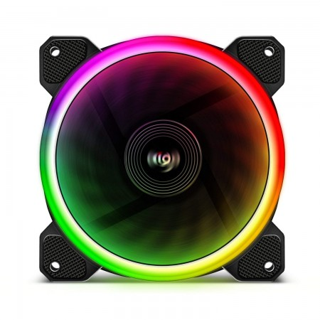 AIGO DR12 ICESTORM DOUBLE RING RGB 120 MM 3 PACK (3ตัว)