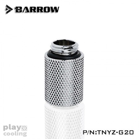 Barrow Male to Female Extender - 20mm silver