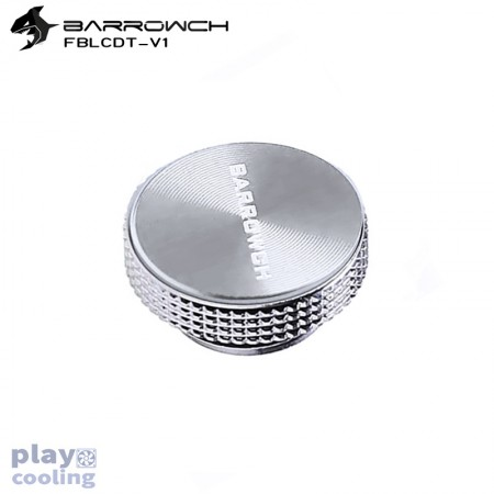 Barrowch Multicolor New CD Composite plate Finish Stop Plug Fitting (Silver -matt silver)