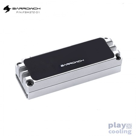 Barrowch M.2 full aluminum alloy digital display Solid state drives heat Silvery (รับประกัน 1 ปี)