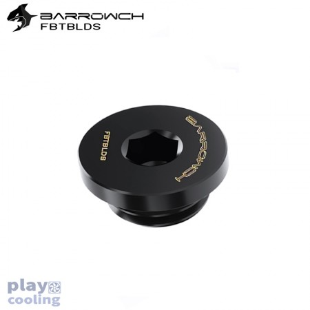 Barrowch ultra-thin Inner six angle Stop Plug Fitting Black