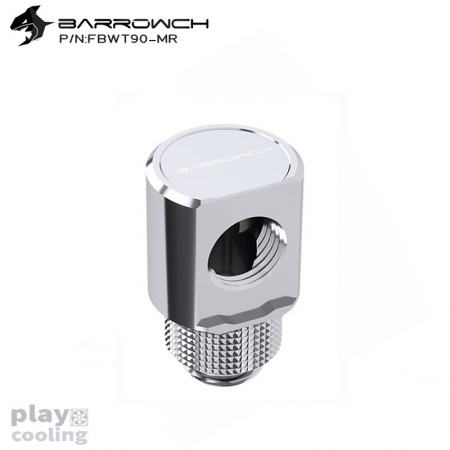 Barrowch 90°Rotary Adapter with smooth surface Siver