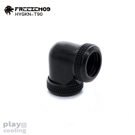 Feeeze Mod 14 mm Hard Tube – 90 Degree Double Fitting Black