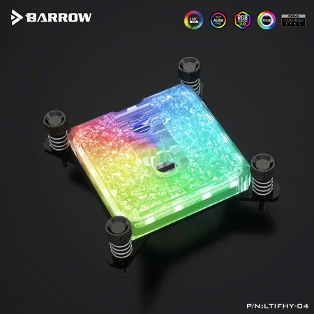 Barrow Icicle series CPU water block for INTEL 115x/1200 platform (Acrylic Edition) รับประกัน 1 ปี