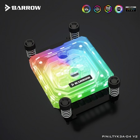 Barrow AMD AM4 platform Acrylic Aurora CPU water block (รับประกัน 1 ปี)
