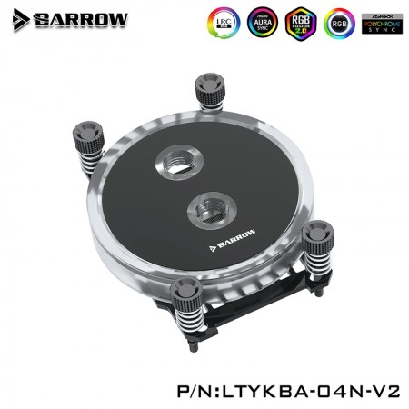 Barrow AMD RYZEN AM4 CPU Water Block (Rays Edition) Black