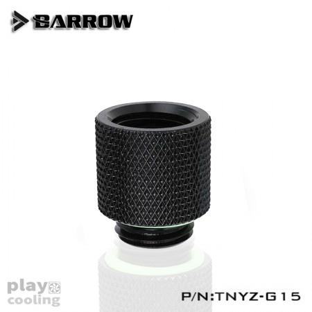 Barrow Male to Female Extender - 15mm Black