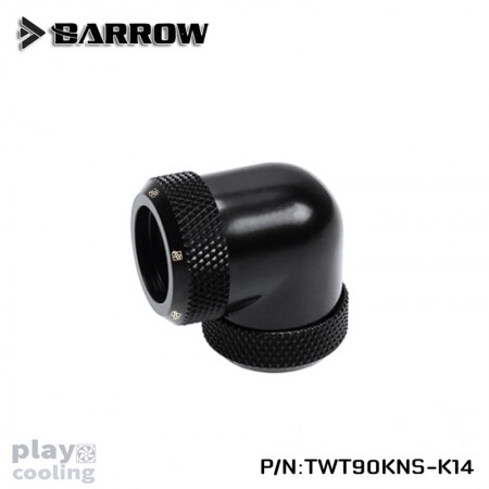 Barrow Double hard tube 90° Multi-Link Adapter 14mm Black