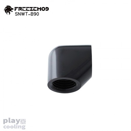 Freeze Mod 90 Degree Female to Felame Adapter Black