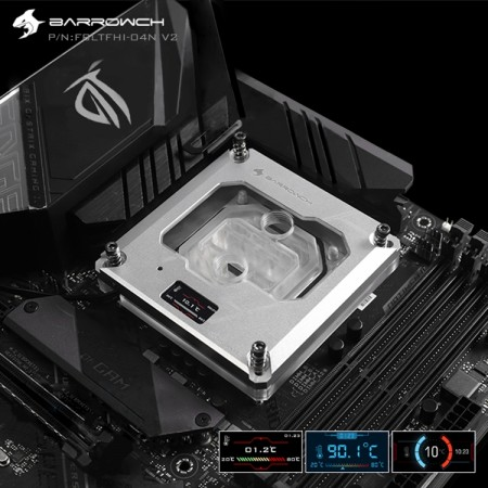 Barrowch 115x/x99/x299 platform Color screen version digital display  CPU water block  Silver (รับประกัน 1 ปี)