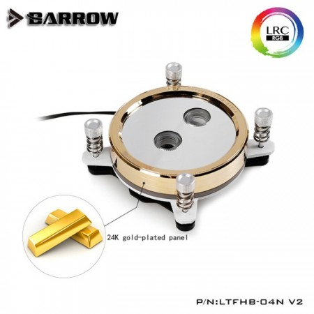 Barrow Real Gold limited edition CPU water block for INTEL platform White (ผิวเคลือบชุบเคลือบทอง 24K)