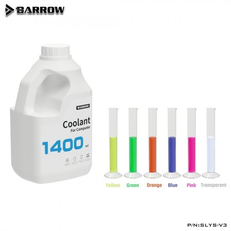 Barrow PC Water Cooling Liquid Coolant 1400ML SLYS-V3 -Rose color