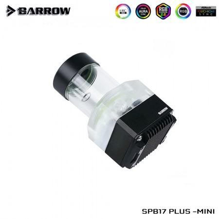 Barrow pump SPB17 PLUS MINI (DDC) transparent-Black (รับประกัน 1ปี)