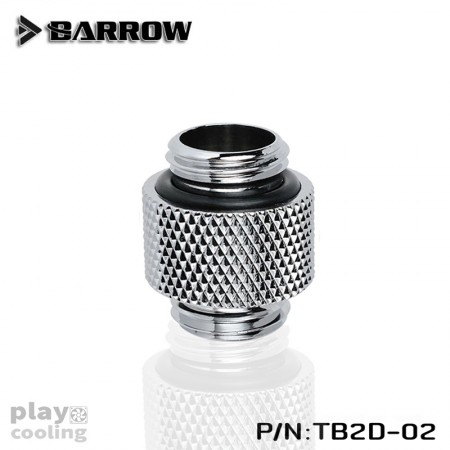 "Barrow Dual Male G1/4"" Extender silver"