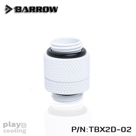 Barrow Rotary Male To Male Extender White