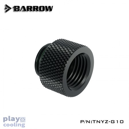 Barrow Male to Female Extender - 10mm Black