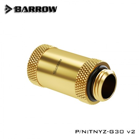 Barrow Male to Female Extender v2 - 30mm gold