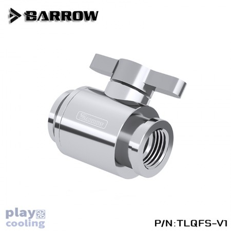 Barrow Mini Valve (with Brass plated handle-Silver shiny) Silver (วาวล์ชุดน้ำ)