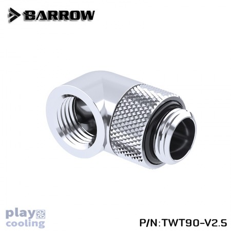 (Set 4Pcs) Barrow 90°Rotary Adapter (Male to Female) Silver